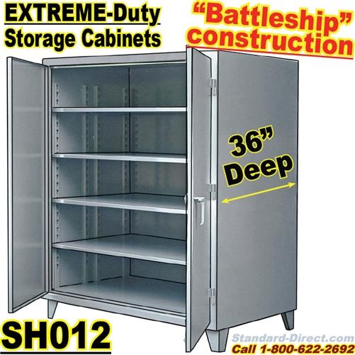 Extreme Duty Steel 36 Inch Deep Storage Cabinets Sh012