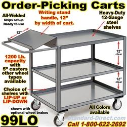 Order Picking Carts W Writing Shelf 99lo