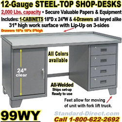Pleasant Work Bench Steel Desks 99Wy Creativecarmelina Interior Chair Design Creativecarmelinacom
